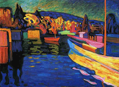 Autumn Landscape with Boats Wassily Kandinsky