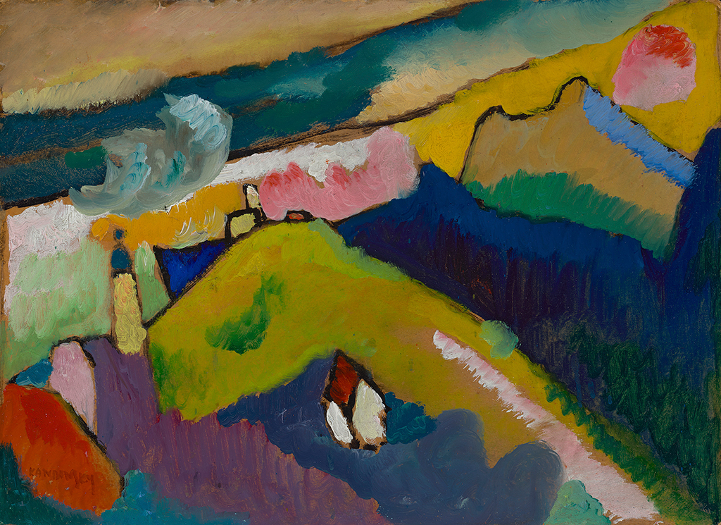 Mountain Landscape with Church in Detail Wassily Kandinsky
